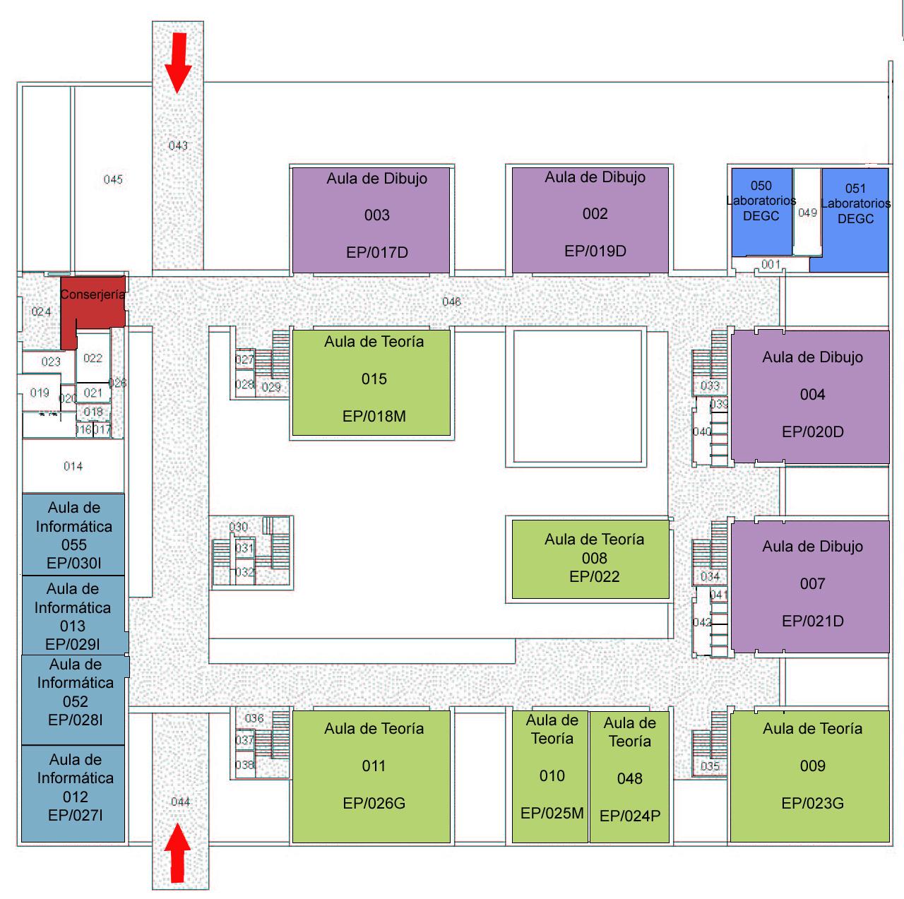 Plano de la escuela politecnica superior iv for Plano escuela infantil